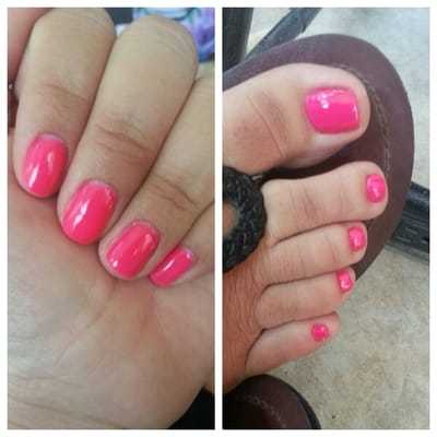 Groupon Gel manicure and cute pedicure! | Yelp