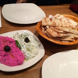Super soft and warm Turkish Bread and dips Inclusive!