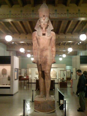 a review of the ancient egyptian art peace the colossal head Ancient egyptian book of the dead or the colossal polished stone head of amenhotep iii in one of the ground floor galleries in art reviews.