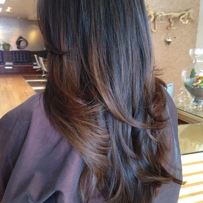 balayage highlights ombr creating a sun kissed look