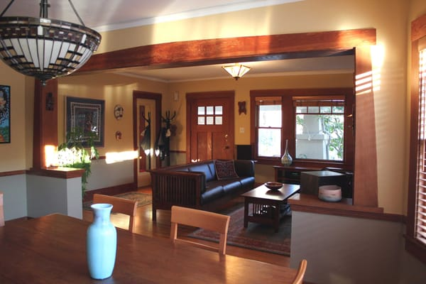 interior decorating of bungalow style home in berkeley