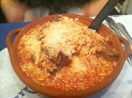 Arni kokkinisto - lamb braised in savory tomato sauce w orzo | Yelp