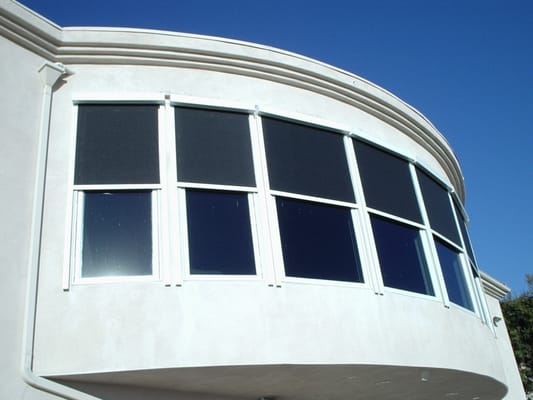 Exterior Motorized SunScreen Roller Shades We Do It All In Our Plant Here