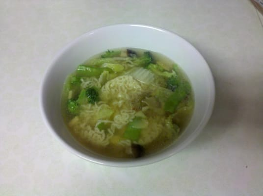 the vegetarian noodle soup, in my bowls! | Yelp