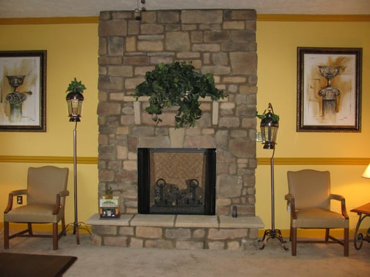 After We Installed A Lennox Gas Fireplace And A Cultured
