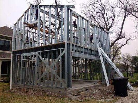 Steel Frame Garage : Cold formed steel frame garage apartment on the post