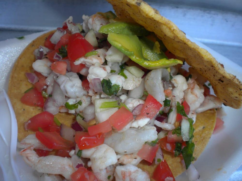 Tostada Ceviche de Camaron | Yelp