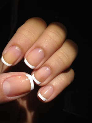 Perfect french manicure in my short nails! | Yelp