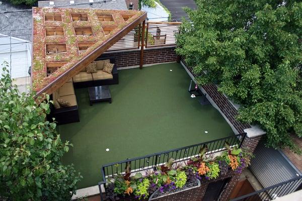 Garage Rooftop Garden with putting green - Roscoe Village ...
