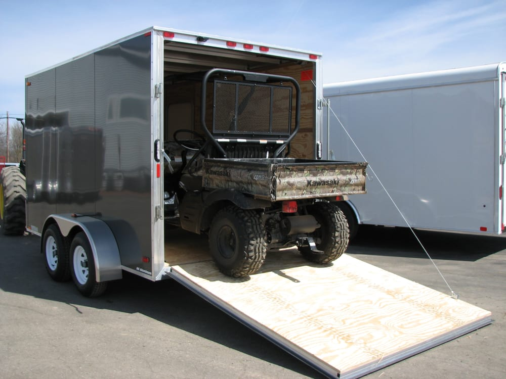 Many open and enclosed atv and utv trailers IN-stock ...
