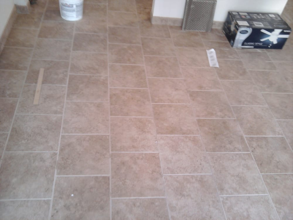 Brick pattern floor tile yelp for 12x24 tile patterns floor