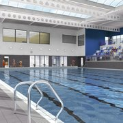 Eight-lane, 25-metre swimming pool with 190 person viewing area. There is also a learner pool with moveable floor.