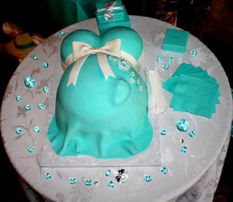 tiffany inspired baby shower baby bump cake yelp