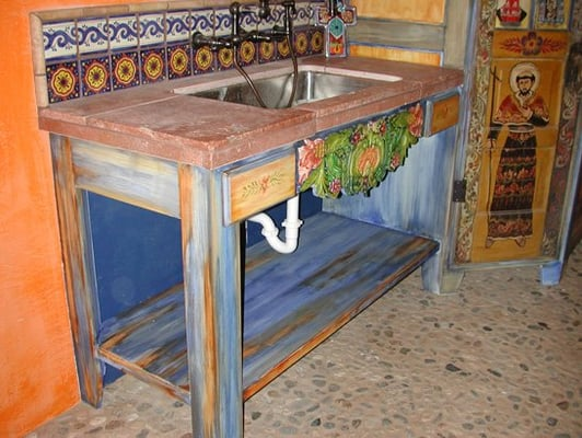 Spanish style furniture effect