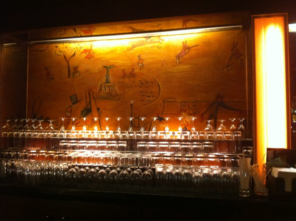 Artwork done in the bar by ludwig bemelmans who is also for Bemelmans bar mural