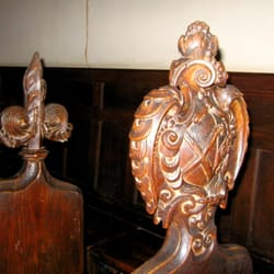 17th-century choir stalls in the Chapel of the school, formerly the Archbishop's Palace