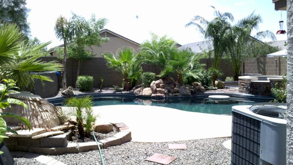 arizona backyard landscape design with pool yelp