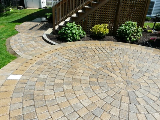 Circular Paver Patio With Accent Lighting Yelp