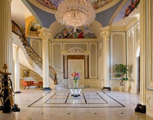 Luxury interior design foyer haleh design inc yelp for Luxury foyer design