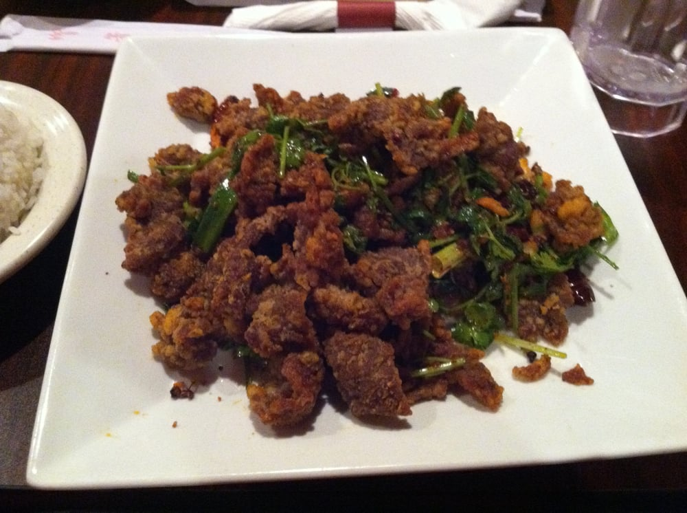 Szechuan crispy spicy beef! | Yelp