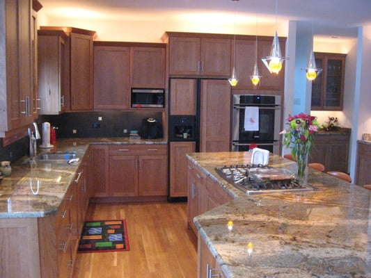 Contemporary Kitchen With Natural Cherry Cabinets Lapidus