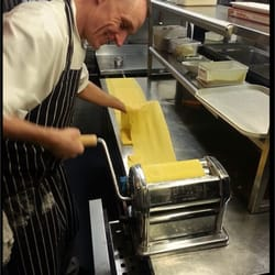 First job today for Chef Eddie; whip up some fresh pasta