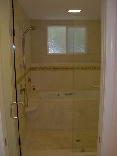 custom shower and whirlpool tub combo yelp. Black Bedroom Furniture Sets. Home Design Ideas