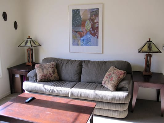 living room in 2 bedroom non townhouse apartment furnished almost