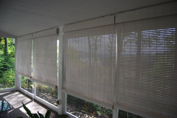 Wooden Roll Up Porch Shades Yelp