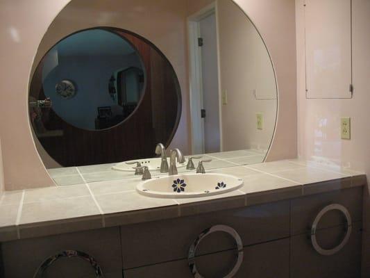 Bathroom remodel vanity tile counter top yelp
