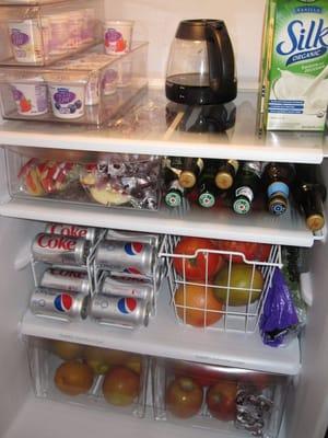 افكار لترتيب الثلاجة بالصور