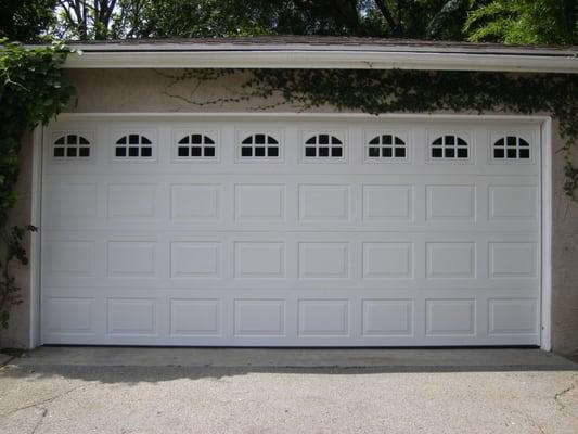 1 piece short panels garage door with windows yelp for 1 piece garage door
