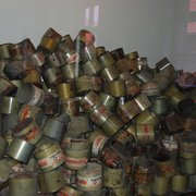 Empty poison gas canisters of Zyklon B
