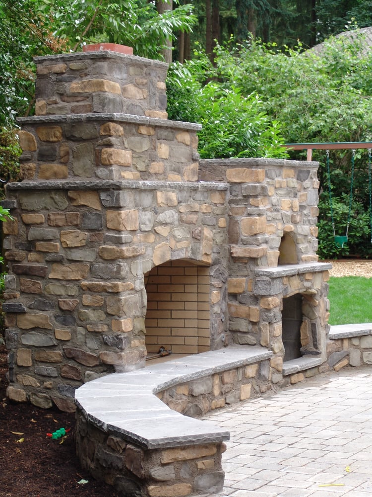 Outdoor Living Pizza Oven Outdoor Fireplace Seating By
