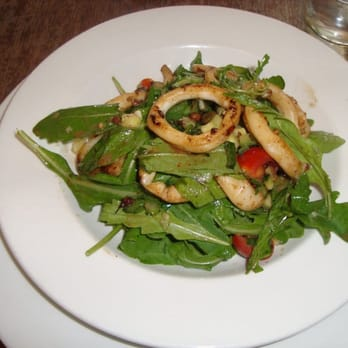 Salad with calamari