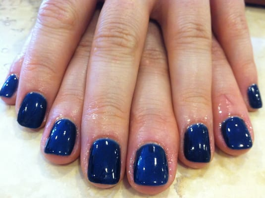 Opi axxium gel manicure in Russian navy by Vi | Yelp