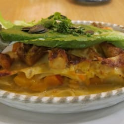 pumpkin apple tofu lasagna