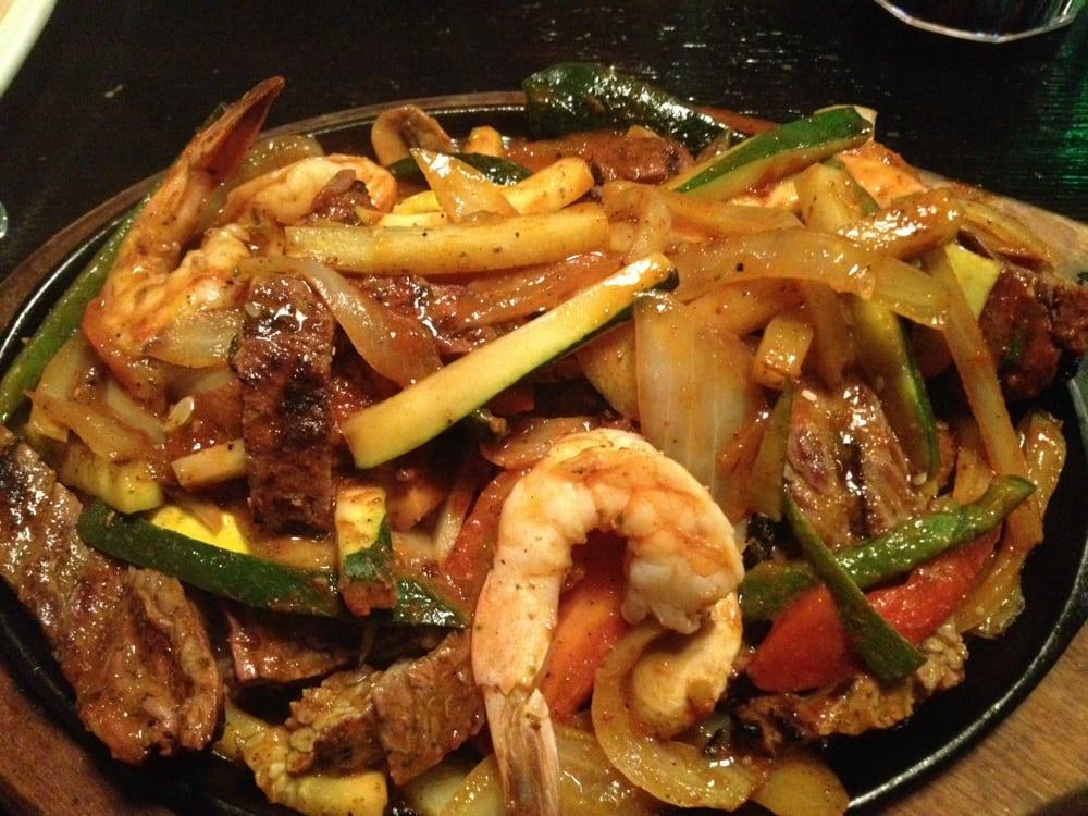 Steak and shrimp fajitas. | Yelp