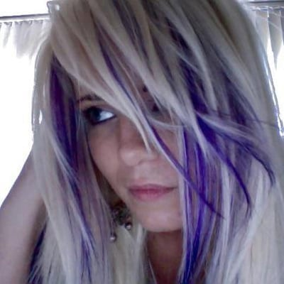Blonde And Purple Hair Highlights Images & Pictures - Becuo