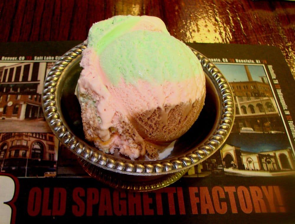 Spumoni Ice Cream - Chocolate, Strawberry & Pistachio flavors | Yelp