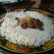 Rice with our Lamb Tangine lunch