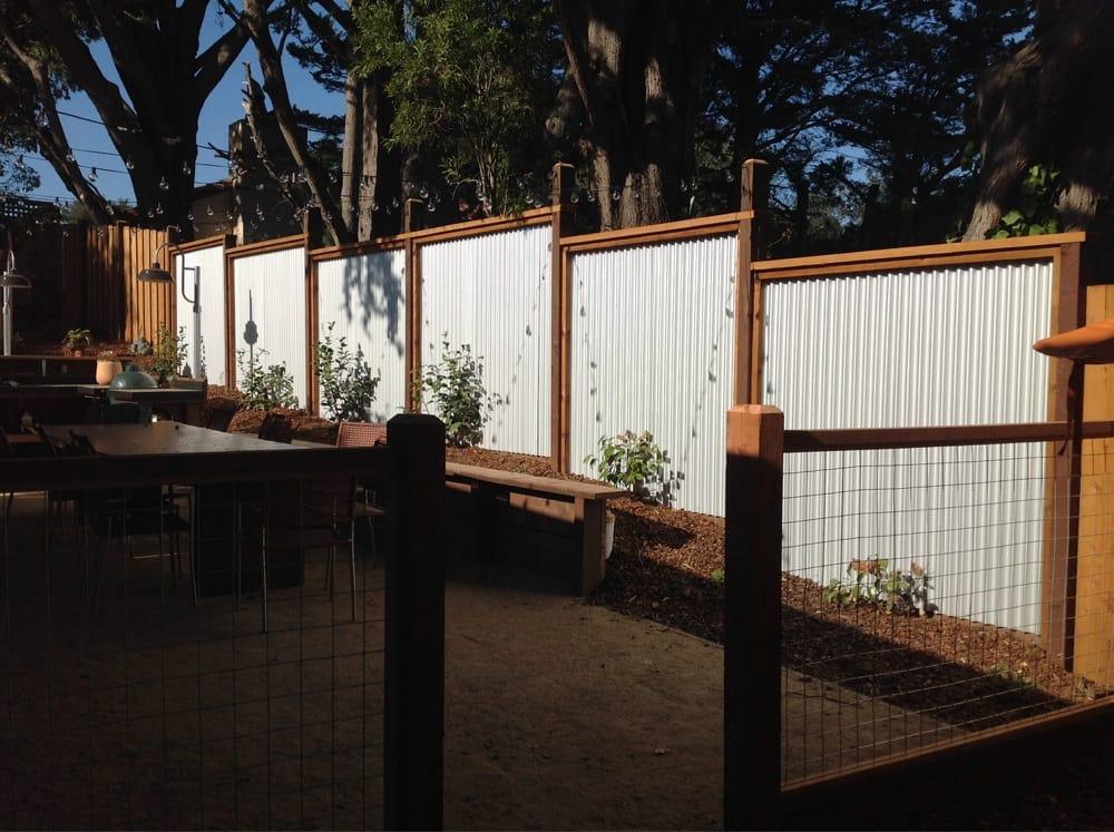Inlayed Corrugated Steel Fence Yelp
