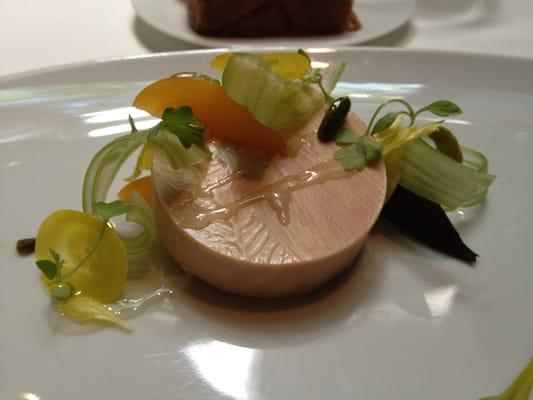 moulard duck foie gras au torchon apricot celery branch. Black Bedroom Furniture Sets. Home Design Ideas