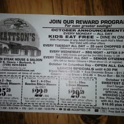Mattson steakhouse coupons