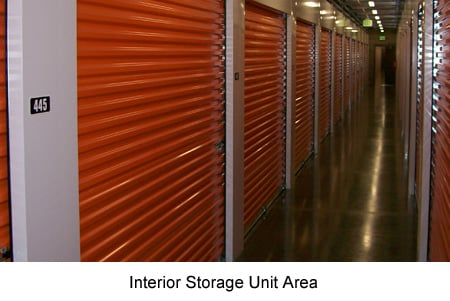 Interior Units Lighted Roll Up Doors Security Entry Door Rolling Carts Avaiable In Each