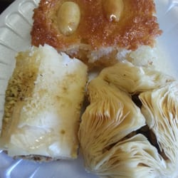 Baklava and Nammoura Desserts