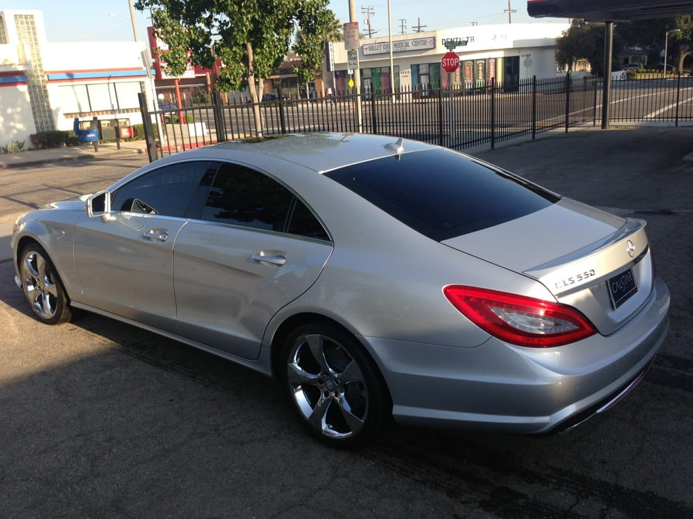 Llumar ctx 15 dark tint 55 heat rejection yelp for Mercedes benz blue window tint