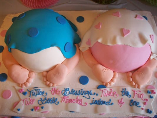 Twin Baby Shower Cake | Yelp