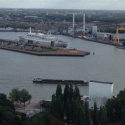 View from the tower to the SS Rotterdam