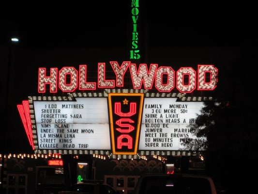Movie showtimes at hollywood theaters